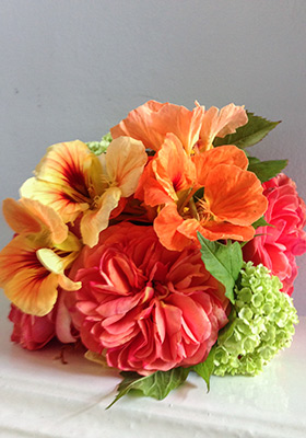 Jen Jakobsen Floral Construction: Home page -  nasturtium arrangement